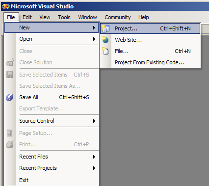 Microsoft Visual C++ Development Environment